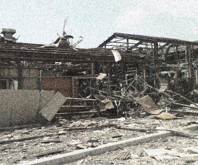 2007/9/4 爆発現場